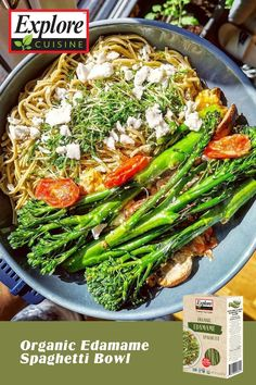 Looking to get more vegetables into your diet? This one bowl meal is filled with plant-based protein and gluten-free and meat-free. Our Organic Edamame Spaghetti is mixed with steamed broccoli, chestnut mushrooms, white onion, cherry tomatoes, vegan feta cheese and microgreens.