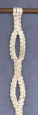 Handcrafted by Elaine - macrame instructions - variations 4 - Varying Knotting and Core Cords in Square Knots