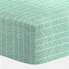Mint Herringbone Crib Sheet | Carousel Designs