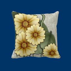 Faux Sunflowers Throw Pillows The 72 Hour Sale - 15% OFF ALL PRODUCTS!   Use Code: 72HOURSALE15