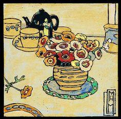By Margaret Preston Henri De Toulouse Lautrec, Australian Painters, Australian Artists, Gustav Klimt, Margaret Preston, Margaret Rose, Botanical Illustration, Illustration Art, Tea Art