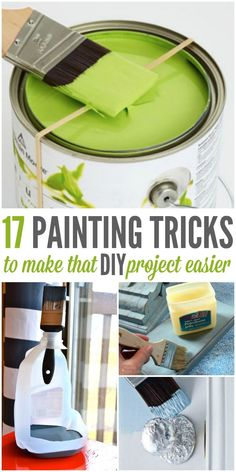 Don't start another DIY project until you've checked out these painting tips. Whether it's a pallet project or painting room in your house, these will make cleaning a breeze and your finished project just gorgeous.