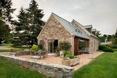 Modern redesign of the old country house with antique stone walls and exposed . - Modern redesign of the old country house with antique stone walls and exposed ceiling beams – - Rustic Country Homes, Country Home Exteriors, Old Country Houses, Country House Interior, Country House Plans, Country Cottages, Vintage Country, Country Farmhouse, Country Decor