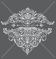Ornate border vector 191492 - by krookedeye on VectorStock®