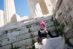 Visiting the Acropolis of Athens in off-season! Parthenon of Athena, ancient Greece archaeology museum. Athens Acropolis, Parthenon, Athens Greece, Ancient Ruins, Ancient Greece, Columns, Alternative Fashion, Archaeology, Editorial Fashion