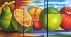 Bodegón moderno Miguel Tapia Apple, Modern Fruit Bowl, Paintings, Abstract Art, Wine Cellars, Canvases, Apples