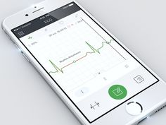UX/UI design concept of ECG monitoring by Cuberto