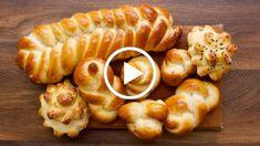 9 Impressive Challah Braids Made Simple - Jamie Geller Challah Dough Recipe, Challah Bread Recipes, Artisan Bread Recipes, Cooking Bread, Cooking Recipes, Challah Rolls, Bread Shaping, Braided Bread, Best Bread Recipe