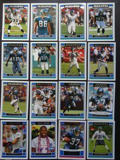 2006 Topps Seattle Seahawks Team Set of 16 Football Cards Seahawks Team, Seattle Seahawks, Football Cards, Baseball Cards, Ebay, Soccer Cards