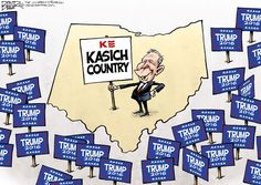 Nate Beeler cartoon on Ohio being Kasich country.