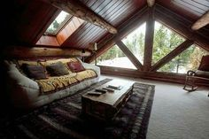 FLOOR TO CEILING WINDOWS -- UPSTAIRS BEDROOM -- USE STAINED GLASS?