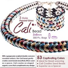 New Three-hole Bead--3X8MM CALI BEAD | Bead Master - Wholesale of Beads & Beading Supplies