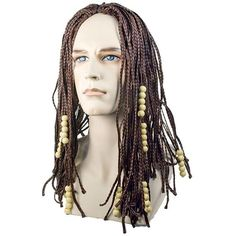Tightly braided dread look with wooden beads. BrownBox Dimensions (in Inches)Length : 14.00Width : 11.00Height : 4.00