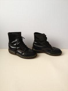 Black Doc Martens Boots  8 Holes Size UK 5/ EUR 38 by Tukvintage, £30.00