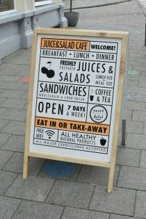 Cirque du Sweet: Juice and Salad Cafe in Amsterdam. Clean and simple menu design Restaurant Menu Design, Hotel Restaurant, Restaurant Branding, Cafe Menu Design, Bar Deco, Menu Board Design, Juice Bar Design, Menu Boards, Signage Design