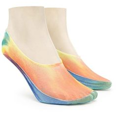 Forever21 Tie-Dye No Show Socks ($2.90) ❤ liked on Polyvore featuring intimates, hosiery, socks, tye dye socks, tie dyed socks, tie-dye socks, forever 21 socks and forever 21