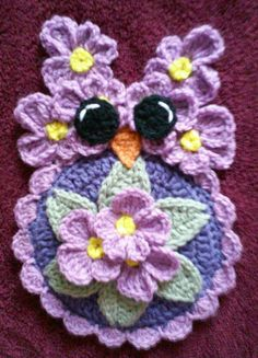 Crochet Miss Febuary Owl Potholder Pattern                                                                                                                                                                                 Más