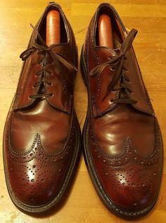 Vintage, Stuart McGuire, Cordovan Burgundy, Leather, Wing Tips (Size 10.5) #StuartMcguire #WingTip #Formal