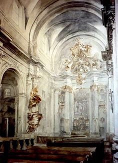 Paul Dmoch  La Nef - l'Eglise des Visitandines - Varsovie