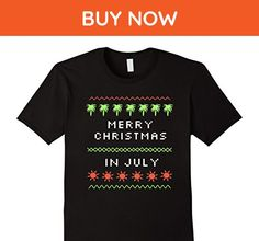 Mens Christmas in July Shirt for Men, Women, Kids Large Black - Holiday and seasonal shirts (*Amazon Partner-Link)