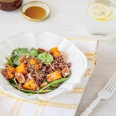 Roasted Butternut Pumpkin and Red Quinoa Salad