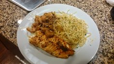 Tilapia and Shrimp with Pasta
