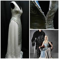 Inspired by Game Of Thrones Cosplay Daenerys Targaryen Pale Blue dress, off white pleated skirt, Custom Made to your size Got Costumes, Costume Ideas, Cosplay Costumes, Halloween Costumes, Elegant Dresses, Beautiful Dresses, Narnia, Pale Blue Dresses, Game Of Thrones Cosplay