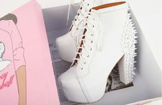 Image discovered by Nath. Find images and videos about jeffrey campbell, shoes and white on We Heart It - the app to get lost in what you love.