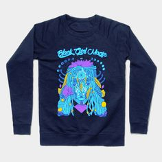 Shop Neon Blue - Goddess of Dreams Black Girl Magic black girl magic crewneck sweatshirts designed by kenallouis as well as other black girl magic merchandise at TeePublic. Black Girl Art, Black Girl Magic, Black Girls, Afrocentric Clothing, Graphic Tees, Graphic Sweatshirt, Black Artwork, Magic Art, Art Series