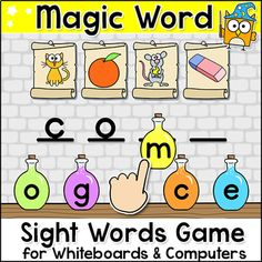 Practice sight words with this engaging word building game for all interactive whiteboards (SMARTBoard, Promethian, Mimio), tablets and computers.