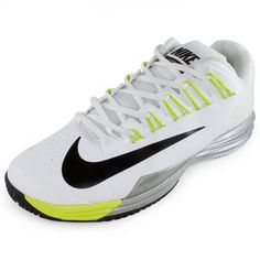 The Nike Men's Lunar Ballistec Tennis Shoes White and Venom Green are Rafael Nadal's shoe of choice and are sure to become yours, too. If your game needs durability and high performance with unmatched comfort that's specific #nike #lunarballistec #rafanadal #holidaydeals #blacknovembersale