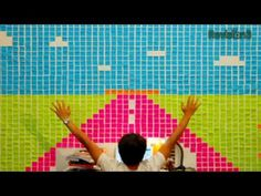 This amazing video uses stop-motion animation and post-it notes to create a real work of art.