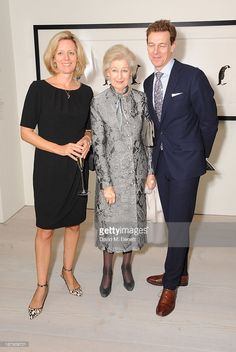 Julia Ogilvy, Princess Alexandra and James Ogilvy attend the private view of ENCOUNTER the stunning wildlife photography of David Yarrow at Saatchi Gallery on November 13, 2013 in London, England. (Photo by David M. Benett/Getty Images)