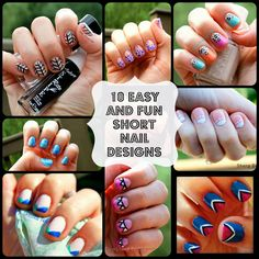 Ten Fun Nails Designs for SHORT nails: Sharp Dressed Nails