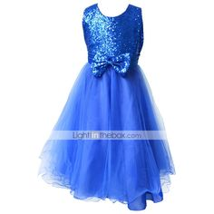 2015 BHL Retail Kids Girl Pageant Dress With Paillette Princess Wedding Party Dress For Girl SZ 2-8 Y Evening Dresses 2015 – $19.99