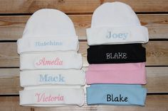 Check out this item in my Etsy shop https://www.etsy.com/listing/244083781/monogrammed-newborn-baby-beenie-knit-cap