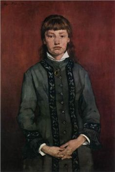 Girl with Folded Hands - Wilhelm Trubner