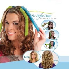 Hair Waves Curling Set Beautiful Waves Natural Styling System Perfect Waves Style Curling Rolls As Seen On TV Protect Natural
