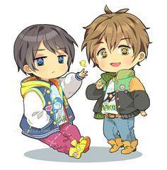 Makoto and Haru ~ Free!