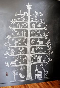 chalkboard christmas tree! (the trick is keeping the kids' fingers off it, ha.)