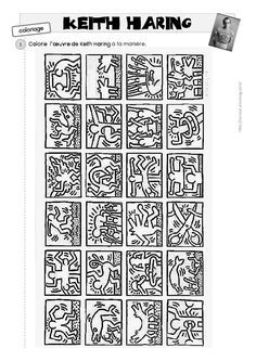 Keith Harig - go with a lesson about artist .... art lesson project idea 2nd, 3rd, 4th grade
