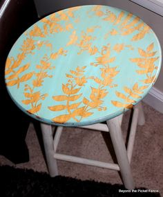 A Simple Side Table...or could do this to my yucky bar stools.