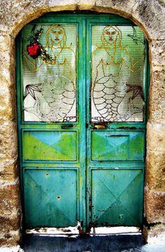 Rhodes, Greece mermaid door