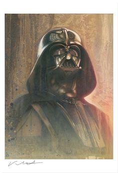 Star Wars A New Hope Darth Vader A Presence Jerry Vanderstelt Poster Giclee //150