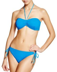 ad6b288f0ec9c Shoshanna Cobalt Mesh Bandeau Bikini Top   Cobalt Mesh Bikini Bottom Women  - Swimsuits   Cover-Ups - Bloomingdale s