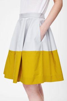 COS | Block-colour skirt