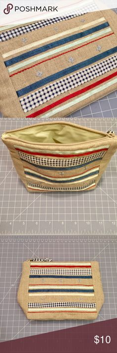 """Laura Ashley Cosmetic bag Laura Ashley beach house small cosmetic bag. Outer: 100% linen. lining: PVC. Made in Thailand. 6""""x5""""x3"""" Laura Ashley Bags Cosmetic Bags & Cases"""