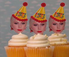 LADY GAGA Photo Cupcake Toppers $18