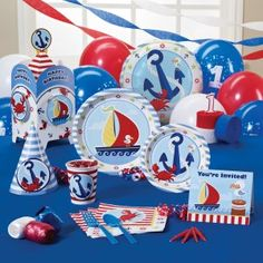 Anchors Aweigh 1st Birthday Party Supplies, 67525