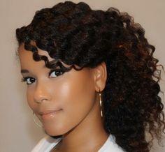 Half up + Bang   Tutorials for Natural and Curly Hair
